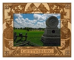Gettysburg Pennsylvania Laser Engraved Wood Picture Frame