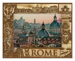 Rome Italy Laser Engraved Wood Picture Frame (5 x 7)