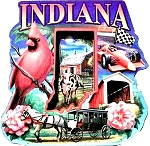 Indiana Montage 2 Level Artwood Fridge Magnet