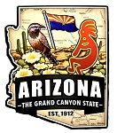 Arizona the Grand Canyon State Est. 1912 Artwood Jumbo Fridge Magnet