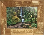 Multnomah Falls Columbia River Gorge Laser Engraved Wood Picture Frame