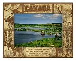 Canada Laser Engraved Wood Picture Frame (5 x 7)