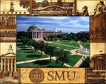 Southern Methodist University Laser Engraved Wood Picture Frame (5 x 7)