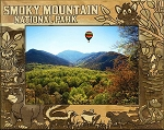 Smoky Mountain National Park Montage Laser Engraved Wood Picture Frame