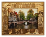 Amsterdam Laser Engraved Wood Picture Frame
