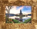 Indonesia Laser Engraved Wood Picture Frame (5 x 7)