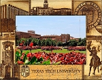 Texas Tech University Laser Engraved Wood Picture Frame