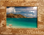 St. Martin Laser Engraved Wood Picture Frame (5 x 7)