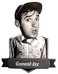 Gomer Pyle Gooool-Lee Bobble Head Artwood Fridge Magnet