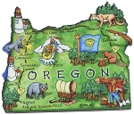 Oregon the Beaver State Artwood Jumbo Fridge Magnet