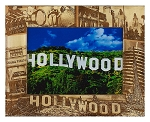 Hollywood California Laser Engraved Wood Picture Frame