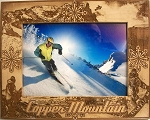 Copper Mountain Colorado Laser Engraved Wood Picture Frame