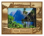 New Zealand Laser Engraved Wood Picture Frame (5 x 7)