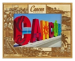 Cancun Mexico Laser Engraved Wood Picture Frame (5 x 7)