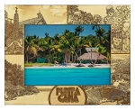 Punta Cana Laser Engraved Wood Picture Frame (5 x 7)