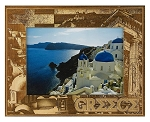 Greece Laser Engraved Wood Picture Frame (5 x 7)