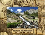 Rocky Mountains National Park Collage Laser Engraved Wood Picture Frame (5 x 7)