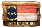 North Carolina Rustic State Flag Artwood Fridge Magnet