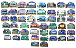 All 50 State Artwood Welcome Magnets Complete Set