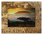 Africa Laser Engraved Wood Picture Frame (5 x 7)
