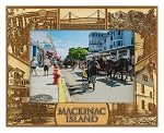 Mackinac Island Michigan Laser Engraved Wood Picture Frame