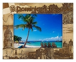 Dominican Republic Laser Engraved Wood Picture Frame (5 x 7)