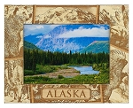 Alaska Laser Engraved Wood Picture Frame