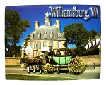Williamsburg Virginia with Carriage Highlight Fridge Magnet