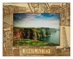 Ireland Laser Engraved Wood Picture Frame
