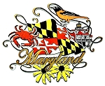Maryland Scroll Fridge Magnet