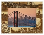 San Francisco California Laser Engraved Wood Picture Frame