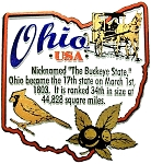 Ohio The Buckeye State Outline Montage Fridge Magnet