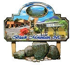 Black Mountain North Carolina Artwood Fridge Magnet