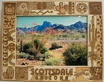 Scottsdale Arizona Laser Engraved Wood Picture Frame (5 x 7)