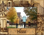 George Mason University Engraved Wood Picture Frame (5 x 7)