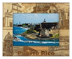 Puerto Rico Laser Engraved Wood Picture Frame