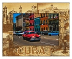 Cuba Laser Engraved Wood Picture Frame