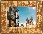Prague Laser Engraved Wood Picture Frame (5 x 7)