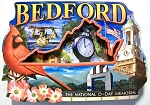 Bedford Virginia The National D-Day Memorial Artwood Jumbo Fridge Magnet
