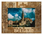 Belgium Laser Engraved Wood Picture Frame