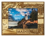 Maine Laser Engraved Wood Picture Frame (5 x 7)