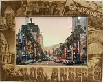Los Angeles California Laser Engraved Wood Picture Frame (5 x 7)