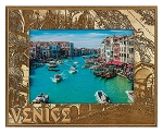 Venice Italy Laser Engraved Wood Picture Frame