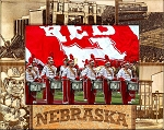 University of Nebraska Engraved Wood Picture Frame