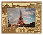 Paris France Laser Engraved Wood Picture Frame (5 x 7)