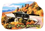 Blue Ridge Parkway North Carolina with Movable Car Artwood Fridge Magnet