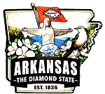 Arkansas Classic Outline Artwood Jumbo Fridge Magnet