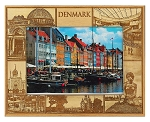 Denmark Laser Engraved Wood Picture Frame (5 x 7)