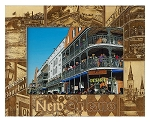 New Orleans Louisiana Laser Engraved Wood Picture Frame