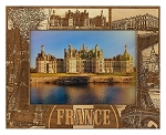 France Laser Engraved Wood Picture Frame